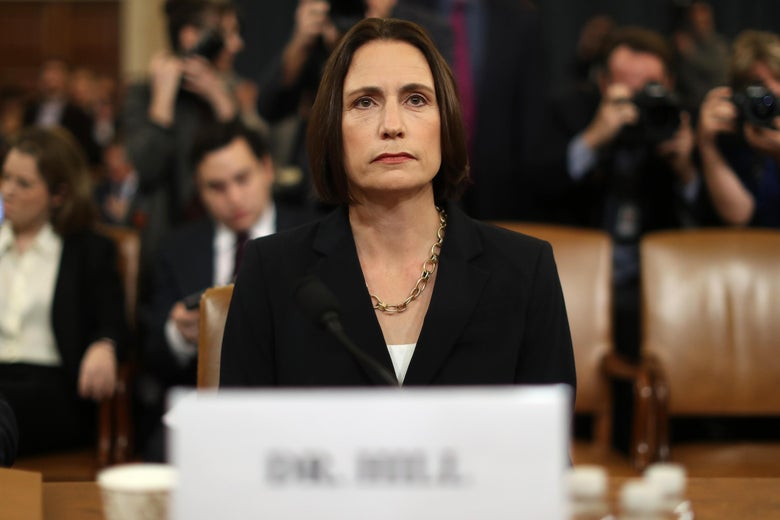 Fiona Hill, the National Security Council's former senior director for Europe and Russia, arrives to testify in the impeachment inquiry.