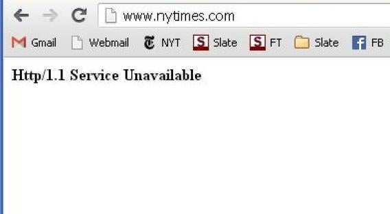 NYT website down