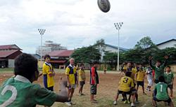 Rugby at a French NGO in Phnom Penh. Click image to expand.