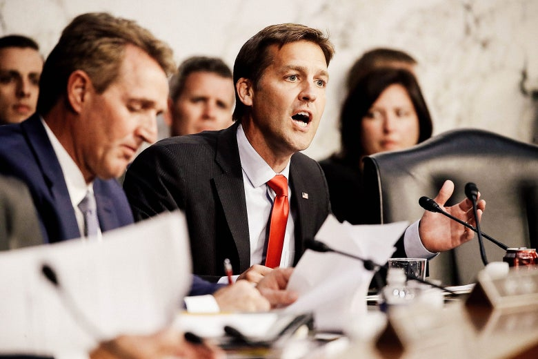 Nebraska Sen. Ben Sasse delivers remarks as Supreme Court nominee Judge Brett Kavanaugh appears for his confirmation hearing on Tuesday in Washington.