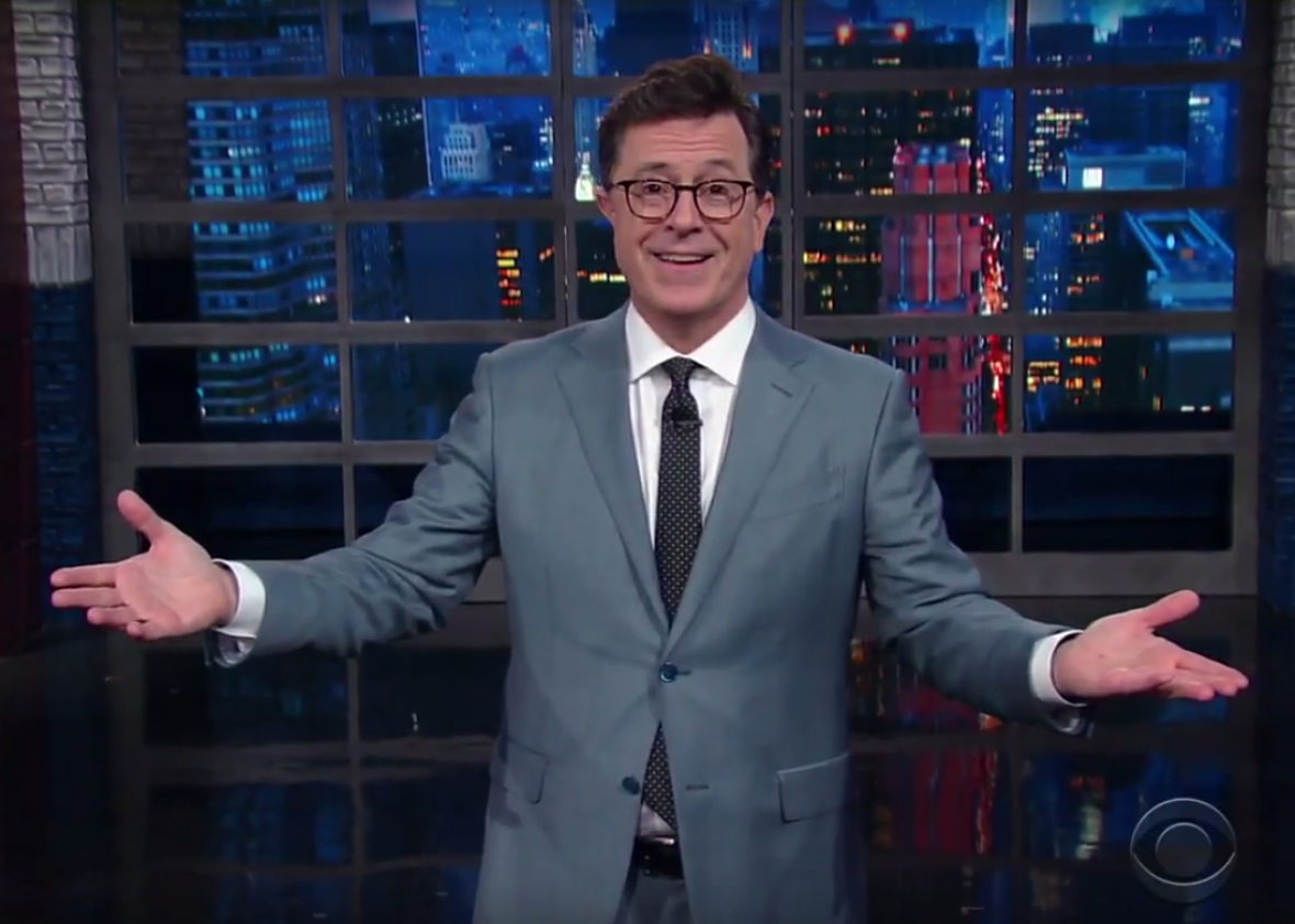 """No-Talent"" Stephen Colbert Has a New Suggestion for Donald Trump: Resign"