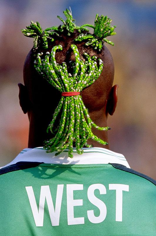 Taribo West of Nigeria in January 2000.