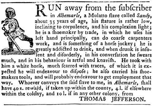 The Virginia Gazette, Williamsburg, September 14, 1769.