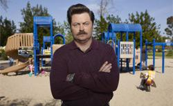 Nick Offerman as Ron Swanson. Click image to expand.