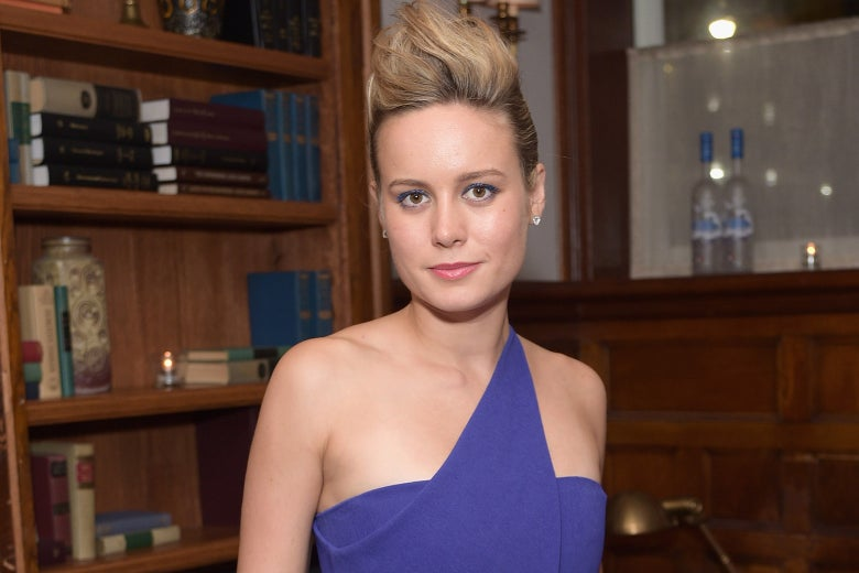 Brie Larson in the Carol Danvers updo.