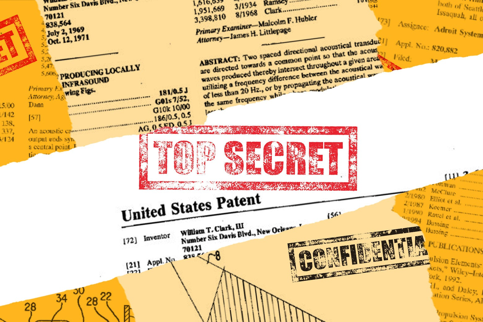 U.S. patents with top secret stamp.