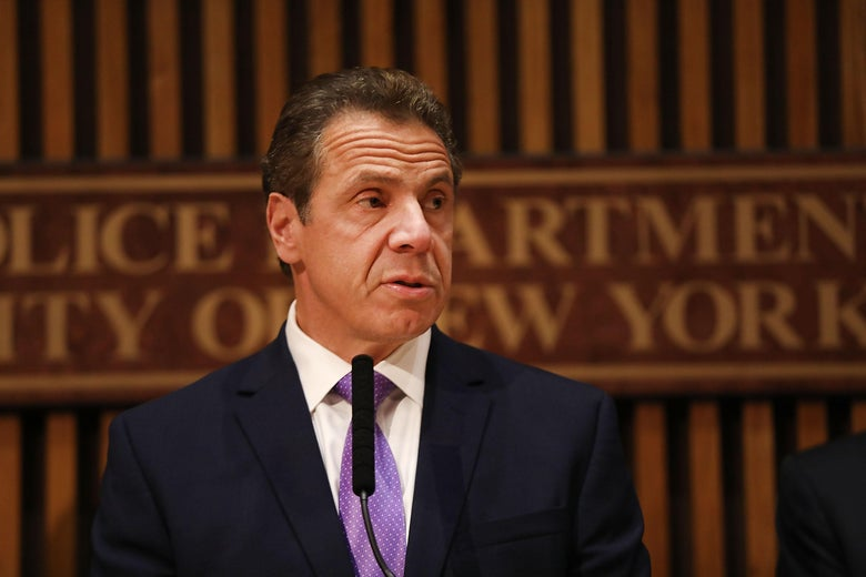 NEW YORK, NY - NOVEMBER 01:  New York Governor Andrew Cuomo speaks during a news conference concerning yesterday's attack along a bike path in lower Manhattan that is being called a terrorist incident  on November 1, 2017 in New York City.  Eight people were killed and 12 were injured on Tuesday afternoon when suspect 29-year-old Sayfullo Saipov intentionally drove a truck onto a bike path in lower Manhattan.  (Photo by Spencer Platt/Getty Images)