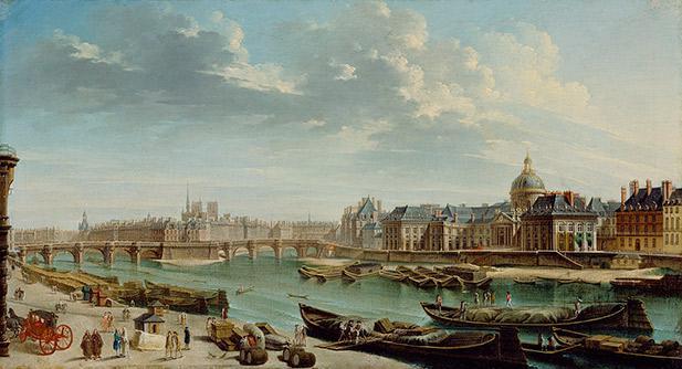 A View of Paris With the Île de la Cité, 1763.