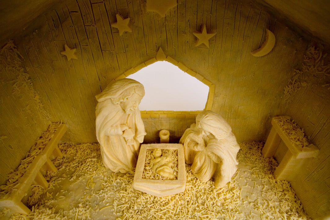 The world's cheesiest Nativity scene is made from 88 pounds