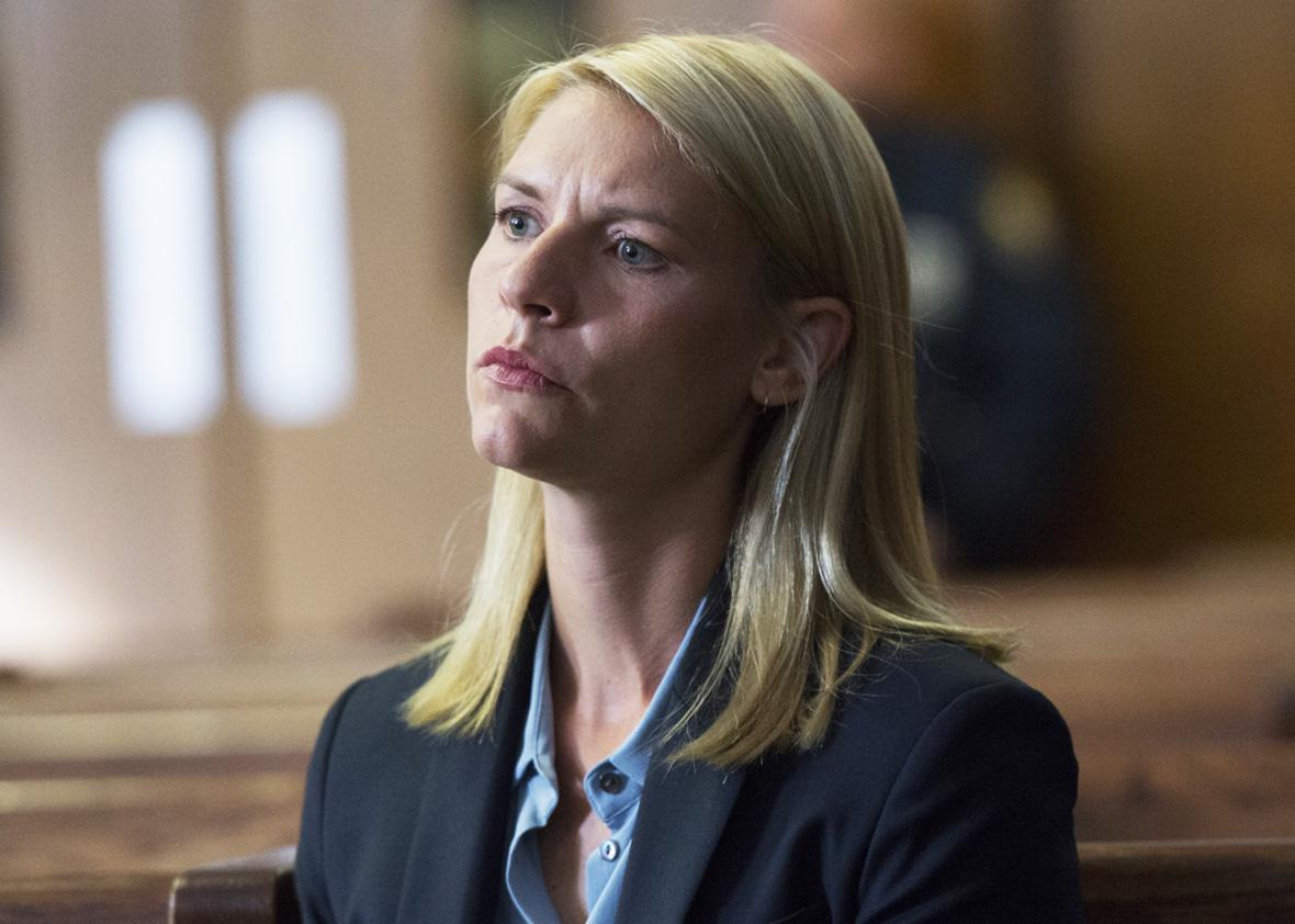 Claire Danes as Carrie Mathison in HOMELAND Season 6, Episode 02.