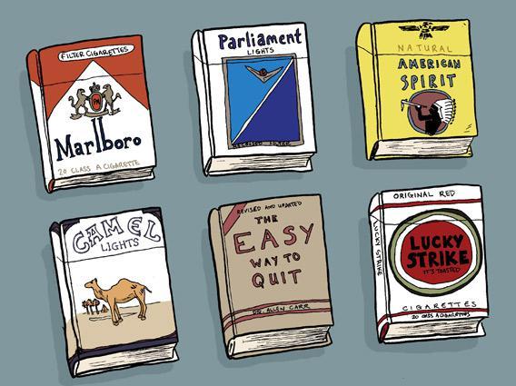 Allen Carr, William Burroughs, Richard Klein: Books on quitting smoking