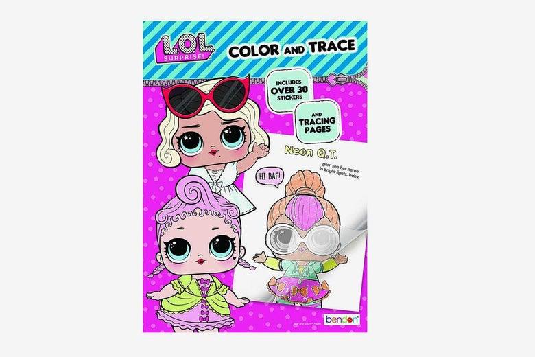 L.O.L. Surprise! Color & Trace Book