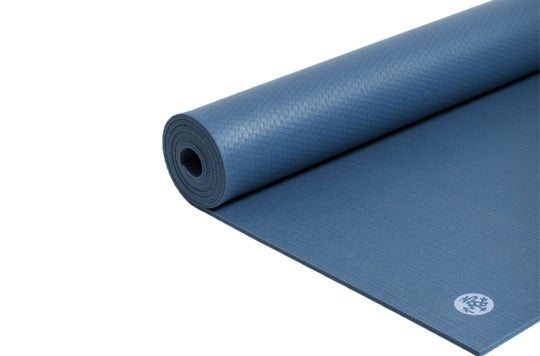 Blue yoga mat.
