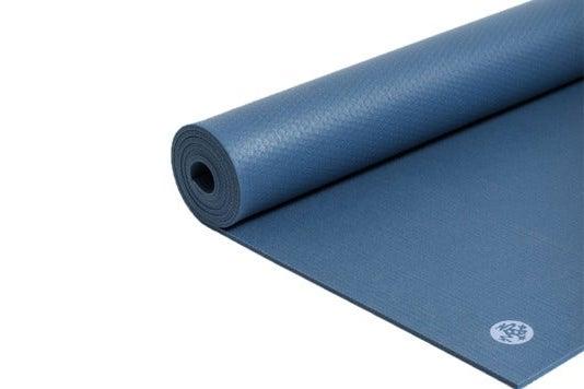 Blue yoga mat.