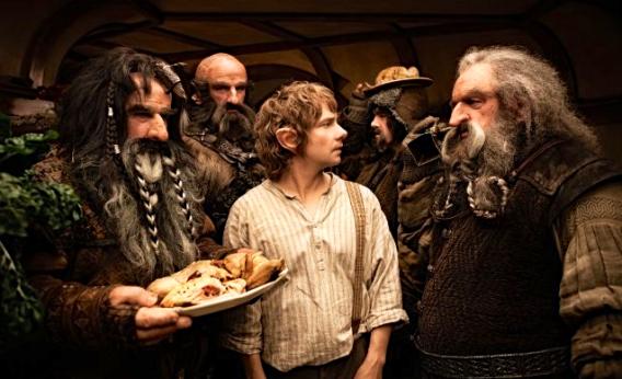 Still of John Callen, Martin Freeman, William Kircher, Graham McTavish and James Nesbitt in The Hobbit: An Unexpected Journey.