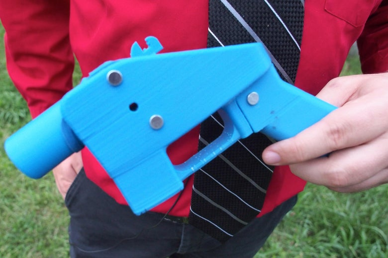 Defense Distributed developed the first 3D-printed gun, the Liberator pistol, in 2013.