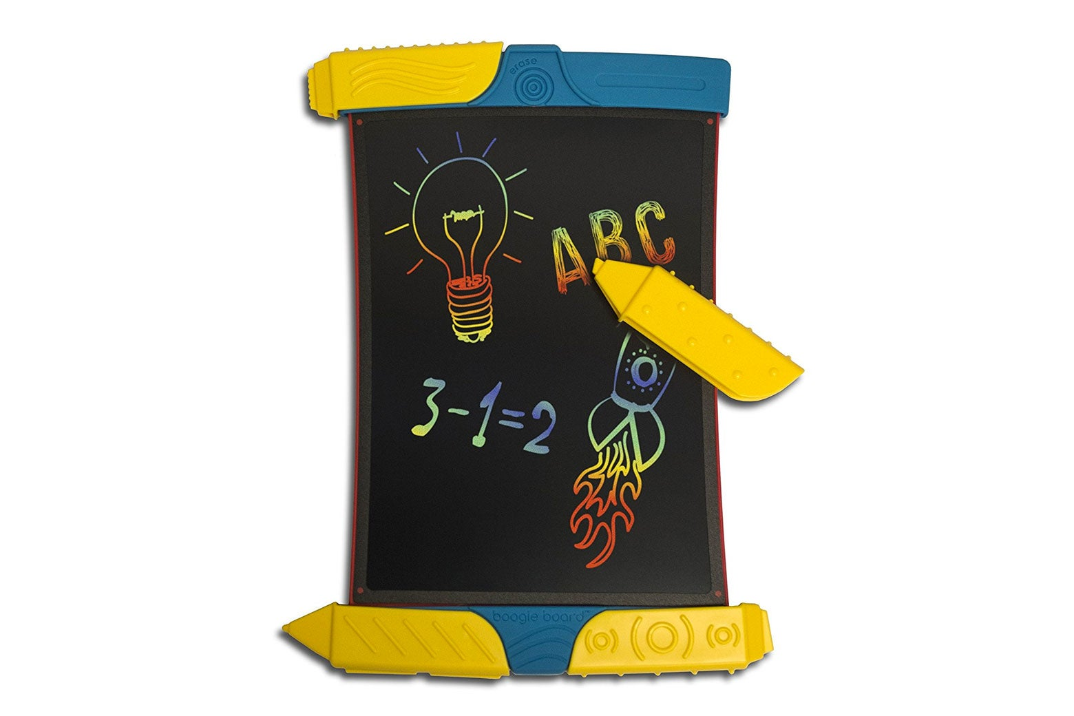 Boogie board erasable doodling tablet.