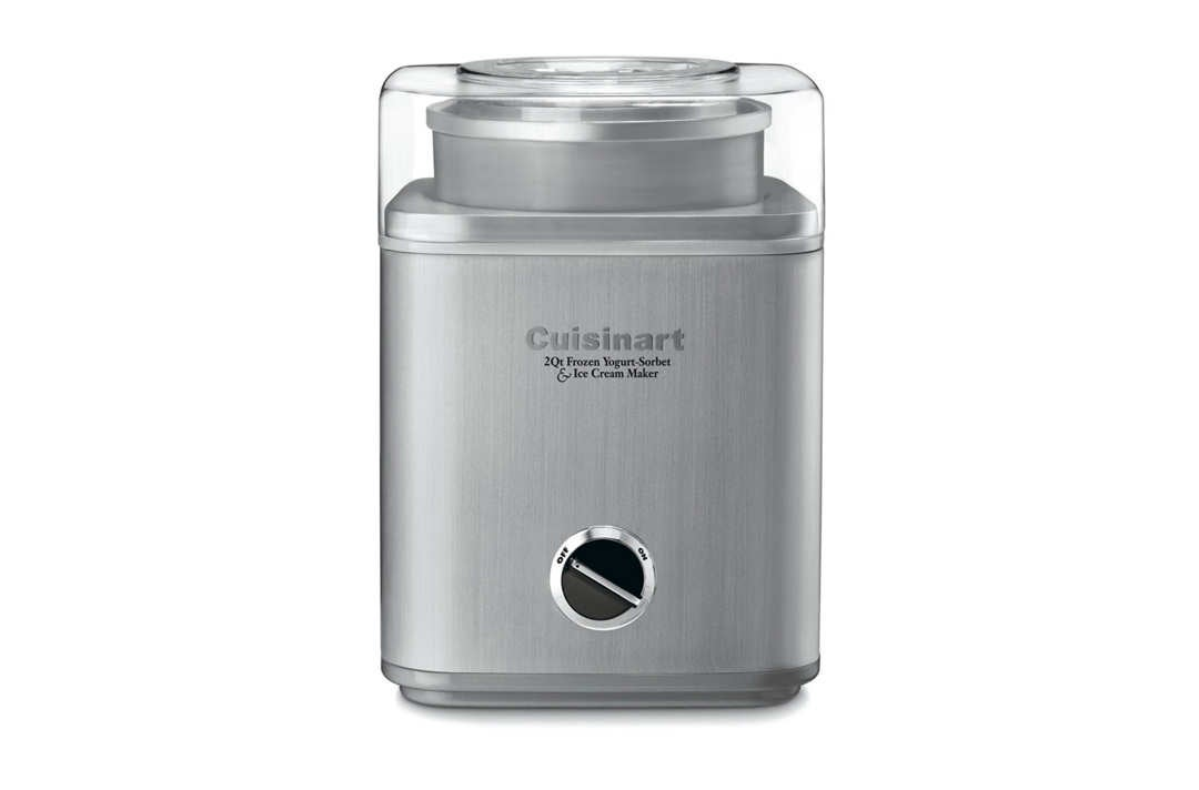 Cuisinart Automatic FroYo/Sorbet/Ice Cream Maker 2 Quart, Brushed Stainless.