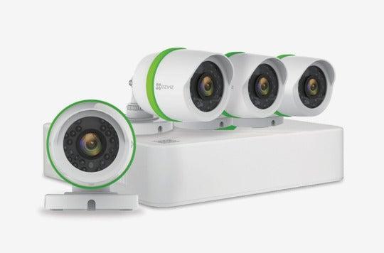 Ezviz outdoor surveillance system.