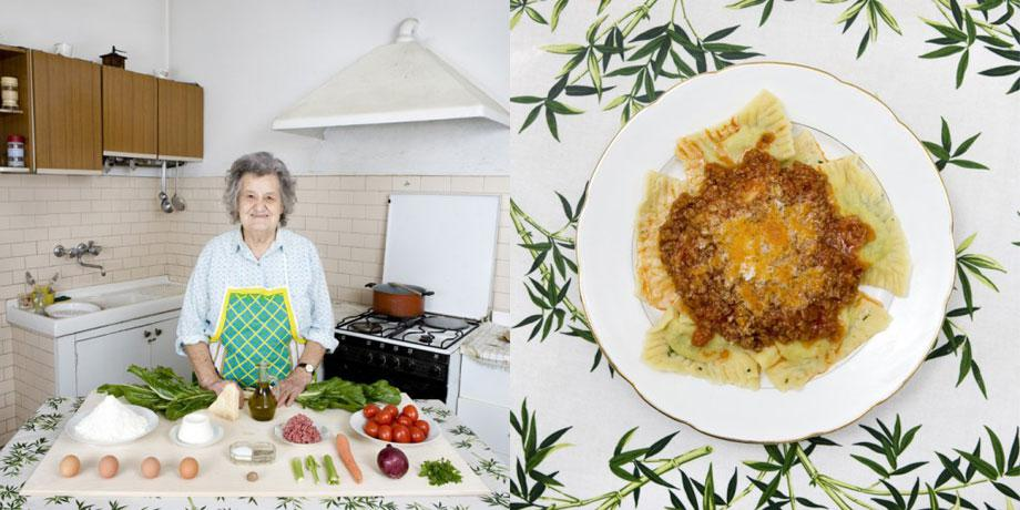 Marisa Batini, 80 years old – Castiglion Fiorentino, Italy– Swiss chard and ricotta Ravioli with meat sauce -