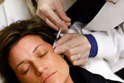 Woman getting botox injection. Click image to expand.