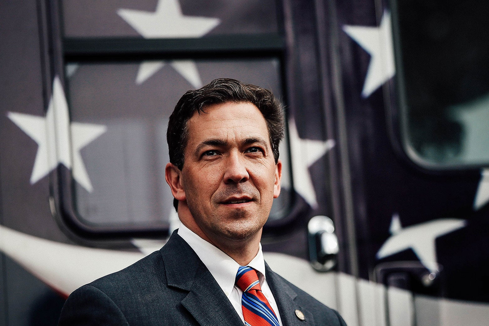 Mississippi state Sen. Chris McDaniel looks on during a campaign rally on June 23, 2014, in Flowood, Mississippi.