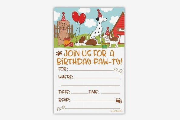 m&h Invites Puppy Dog Birthday Party Invitations