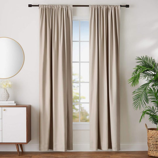 AmazonBasics Blackout Curtain Set.