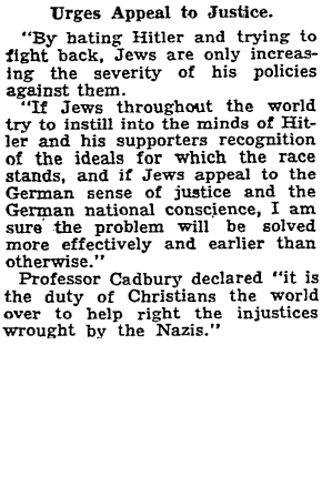 A paragraph excerpt of text from the June 15, 1934 New York Times.