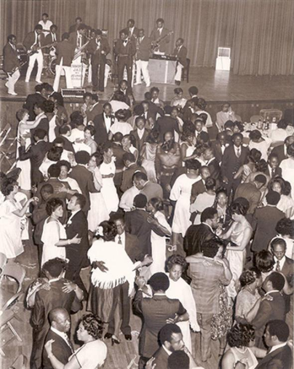 Haiti's de-facto national orchestra, Super Jazz des Jeunes, performing at the Haitian's community's legendary dance parties in New York. 1970s.