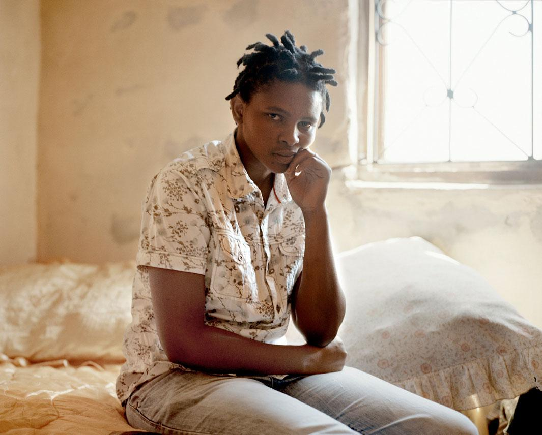 """Zukiswa Gaca, Khayelitsha, Cape TownIn December 2009, Zukiswa Gaca left a party to buy cigarettes. A man she had just met accompanied her. He led her to a shack where someone was sleeping. """"He said he was going to show me I was a woman so he took off his pants and put a blanket over the man sleeping on the bed. He raped me in front of his friend who just lay there under the blanket."""""""