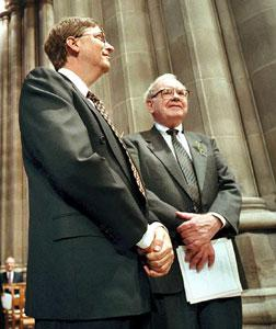 Bill Gates and Warren Buffet. Click image to expand.