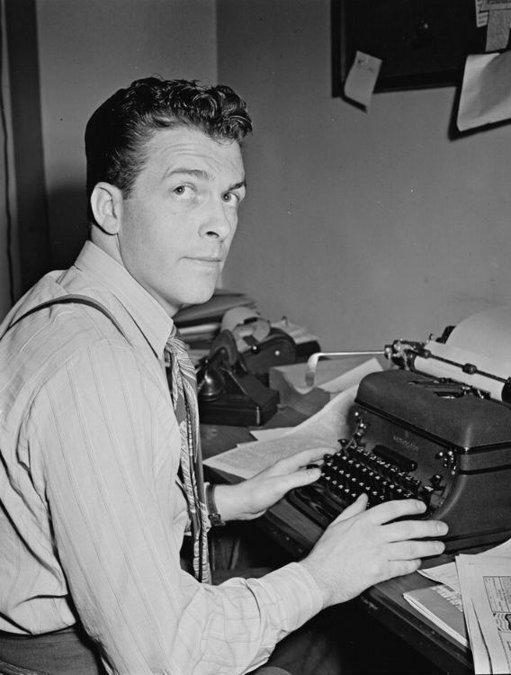 Journalist with typewriter