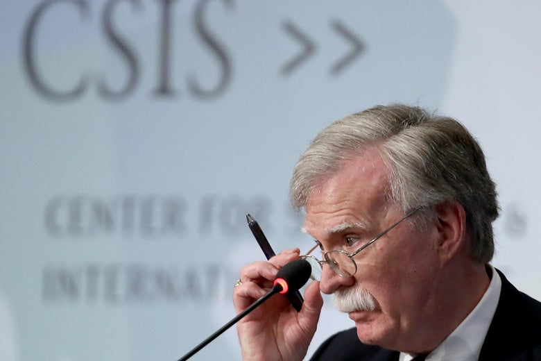Former U.S. National Security Advisor John Bolton speaks at the Center for Strategic and International Studies.