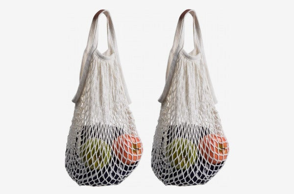 STONCEL Cotton Net Shopping Tote.
