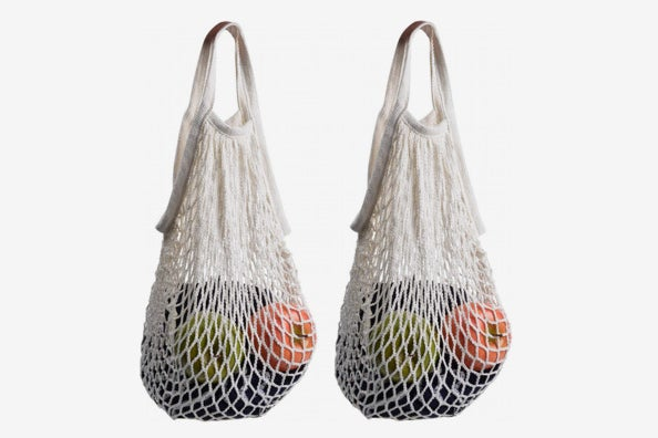 STONCEL Cotton Net Shopping Tote.