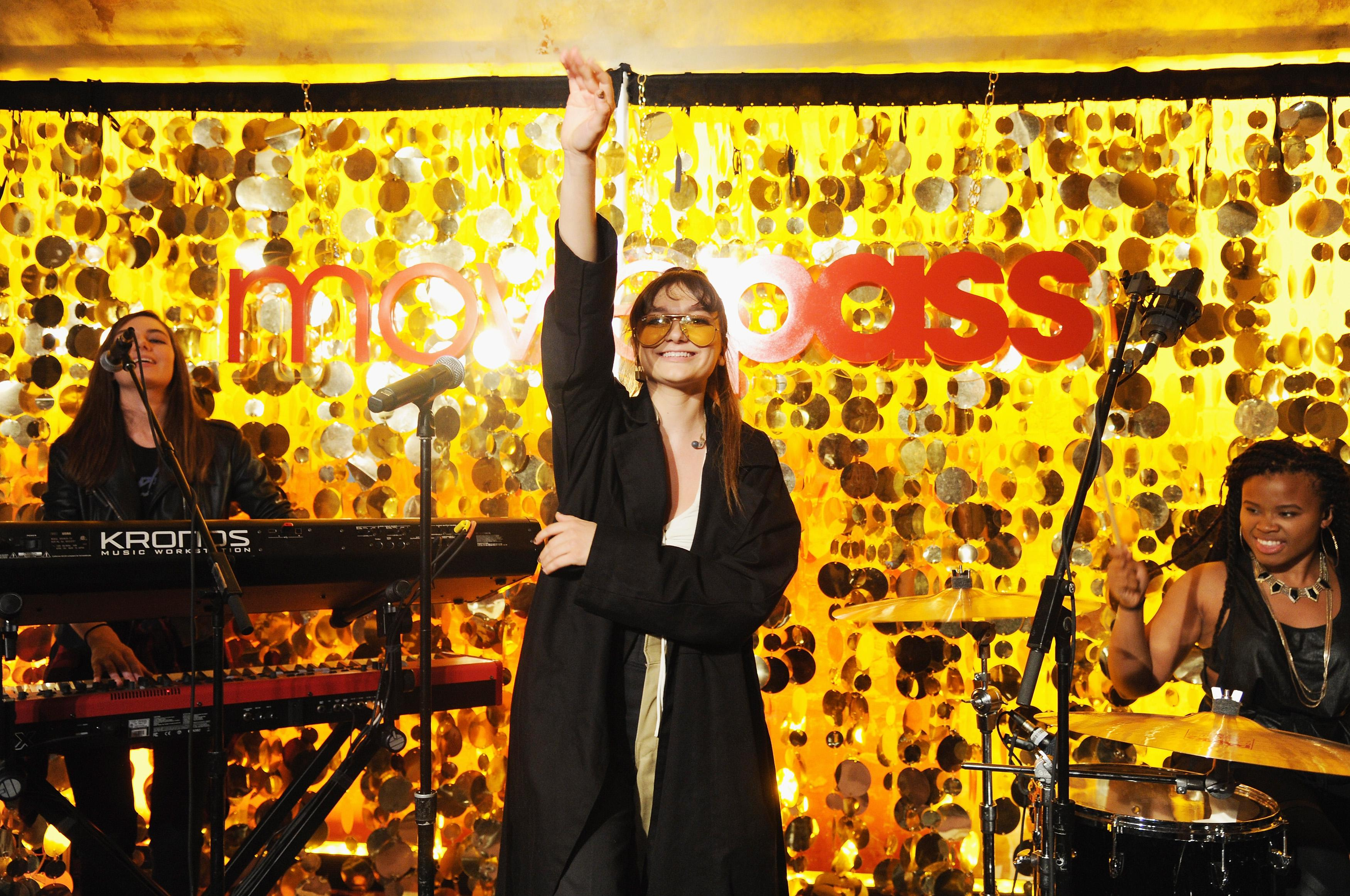 Daya performs during a MoviePass event.