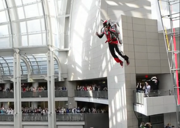 Jet pack at Ronald Reagan building