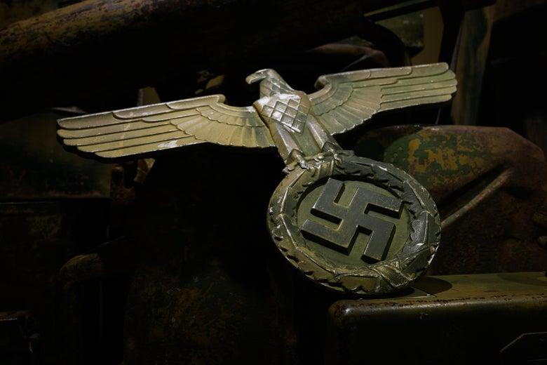 A German eagle with a swastika emblem.