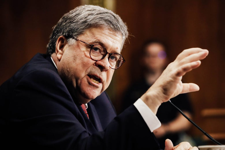 Attorney General William Barr testifies before the Senate Judiciary Committee.