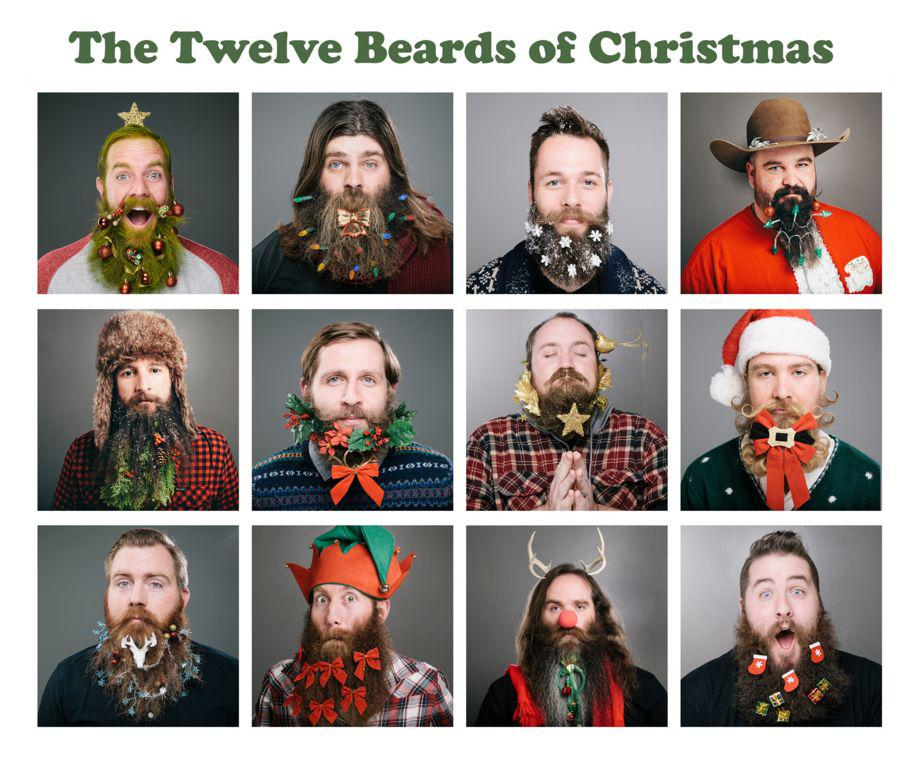 beard christmas decorations