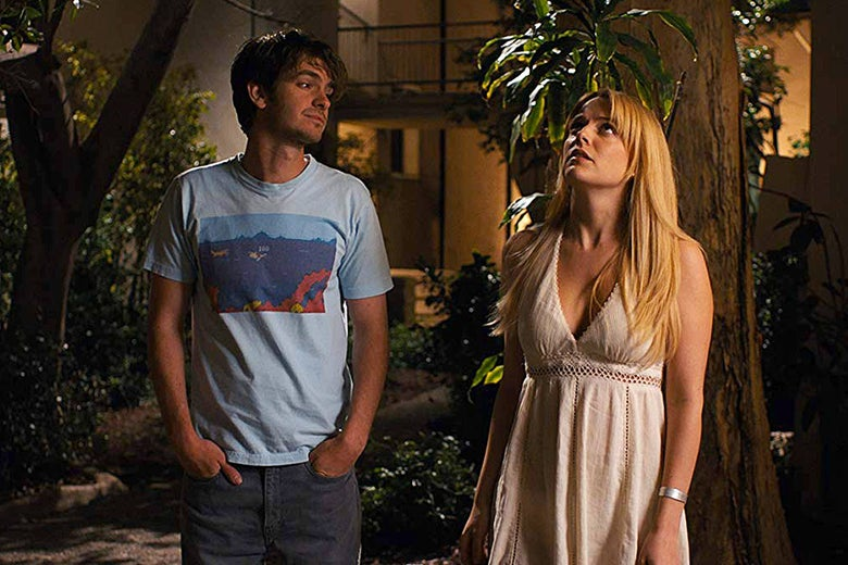 Andrew Garfield and Riley Keough in Under the Silver Lake.