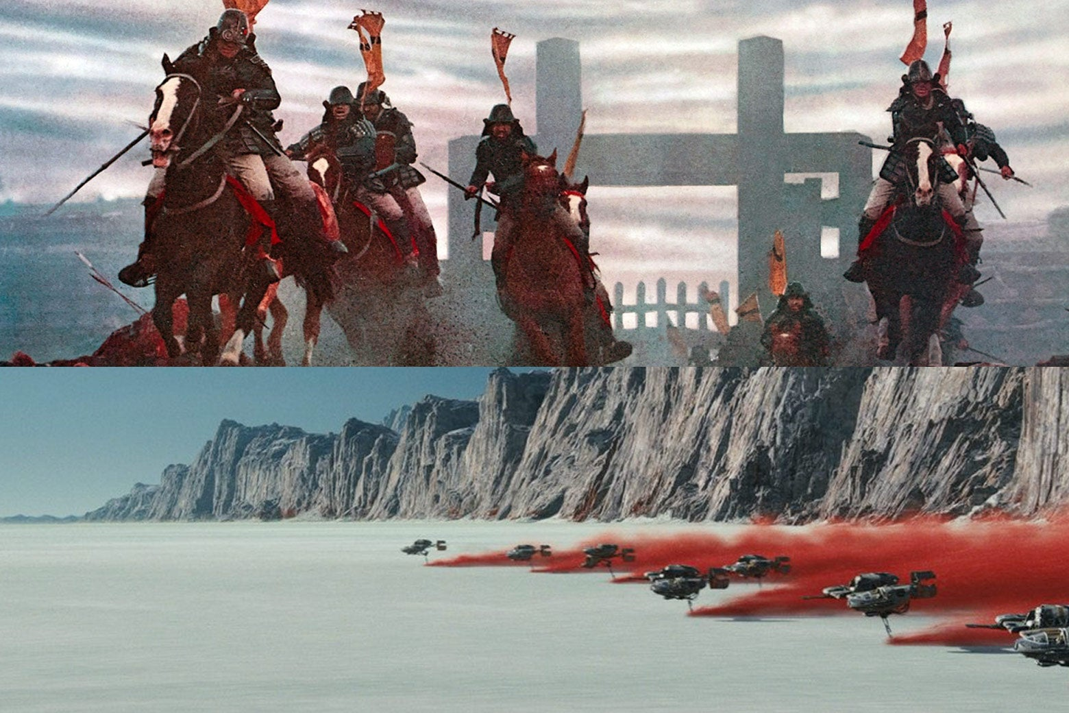 The Last Jedi borrows from the films of Akira Kurosawa—especially, in the final battle sequence, Ran.