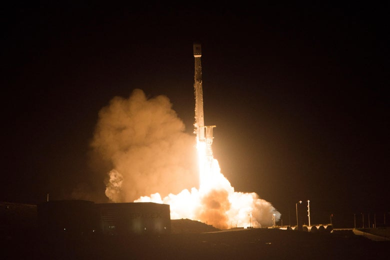 SpaceX also launched a Falcon 9 rocket in December.