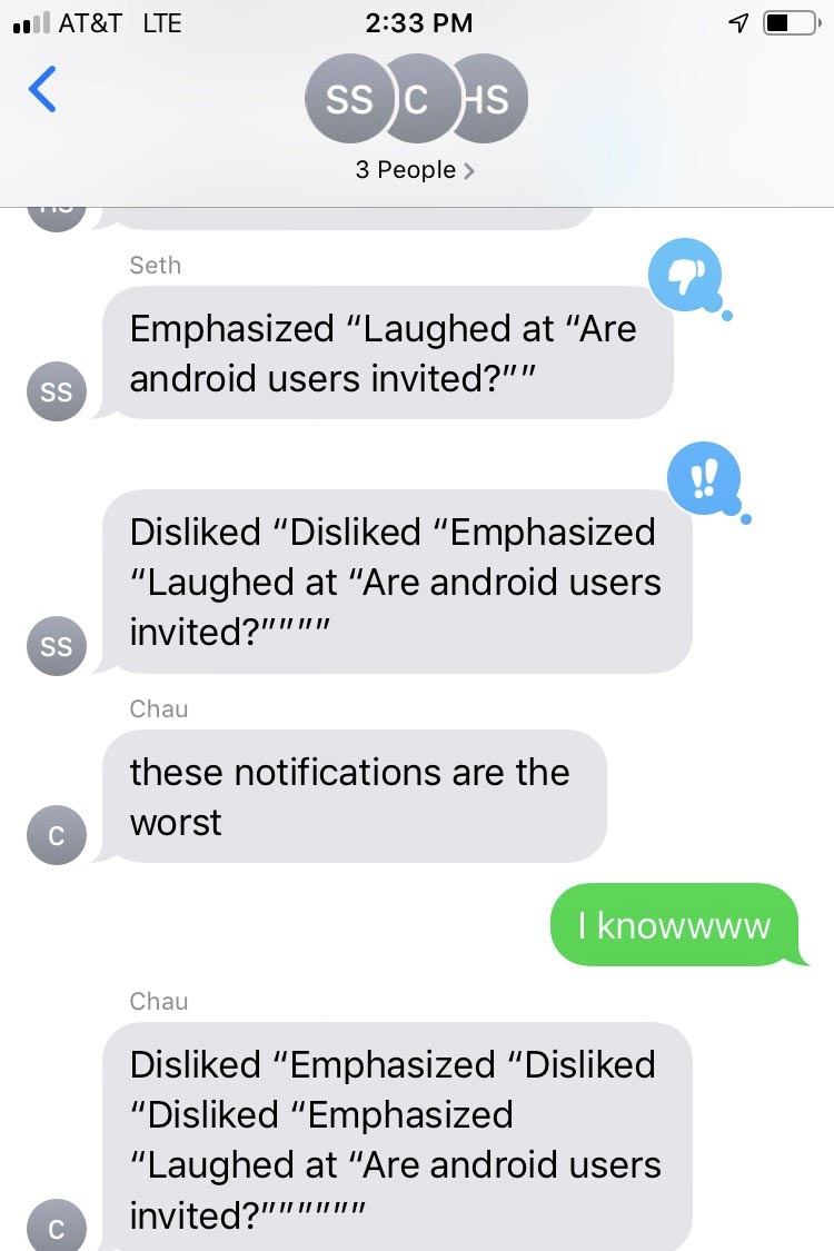 iPhone reactions are ruining group texts and irritating friends