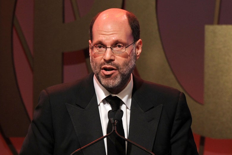 Scott Rudin in a black suit and tie.