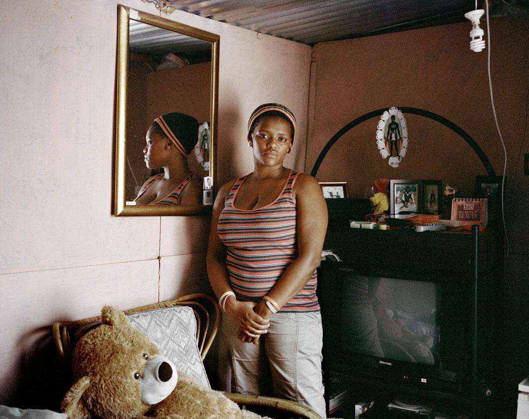 """Pearl Mali, Khayelitsha, Cape Town In 2004 when Pearl Mali was12-years-old she was raped for the first time by an elderly man that her mother brought home from church. He raped Pearl in her own bedroom, which he did daily until she was 16 years old. """"My mother didn't want me to be gay so she asked him to move in and be my husband. She hoped it would change me."""""""