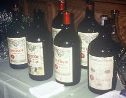 Magnums of Petrus at Hardy Rodenstock's Munich tasting. Click image to expand.