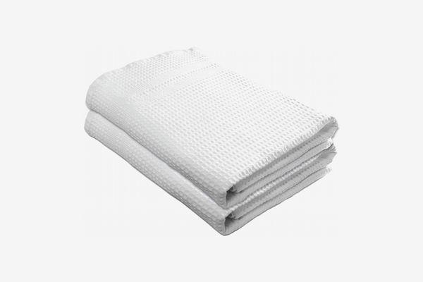 Gilden Tree Premium Bath Towels Quick Dry Waffle Weave 100% Natural Cotton