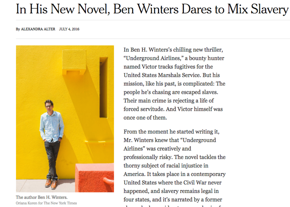 """The NYT Called This White Guy """"Daring"""" for Tackling Slavery Through Sci-Fi. Uh, No."""